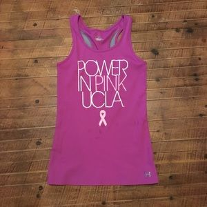 Power in Pink UCLA SM Under Armour tank